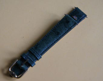 The Swiss brand watchband Maurice Lacroix leather ostrich 15 mm