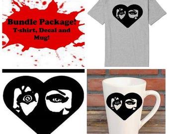 Chucky Tiffany Childs Play Bundle Gift Package Unisex Shirt Decal Mug Present Horror Lover Decor Halloween Merch Massacre