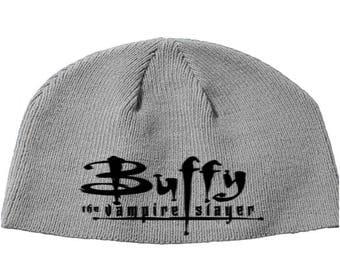 Buffy the Vampire Slayer Chosen Beanie Knitted Hat Cap Winter Clothes Horror Merch Massacre Christmas Black Friday