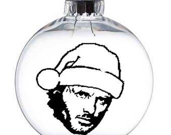 Rick Grimes Walking Dead Walker Zombie  Christmas Ornament Glass Disc Holiday Horror Merch Massacre