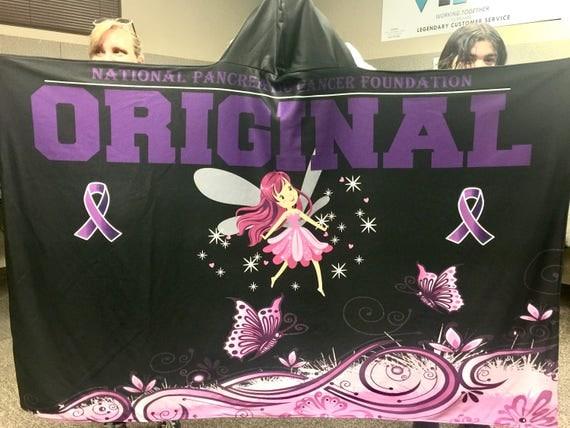 Hooded Blanket - Pancreatic Cancer Awareness - Reversible