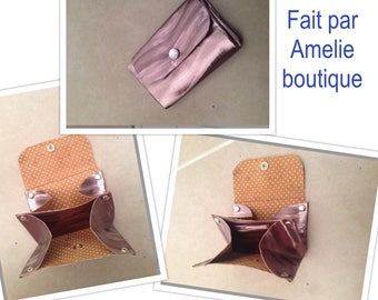 Door wallet Brown lined compartments