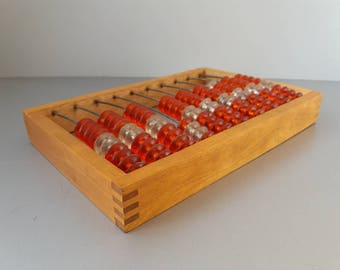 Soviet Wooden Abacus Retro Abacus Soviet Souvenir Small Abacus Vintage Calculator Wooden Calculator of the Soviet Era Office Decor
