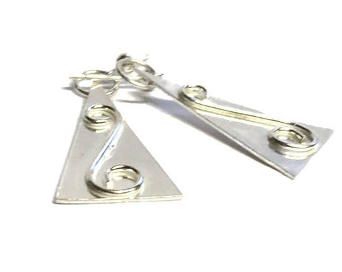 Aztec Triangle Drop Earrings