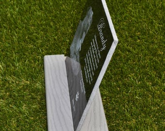 Stand base for tombstone headstone