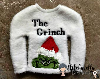 The Grinch Elf on Shelf Sweater