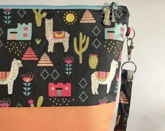 Alpaca My Things, Lets Go - Medium Project Bag for Knitting / Crocheting