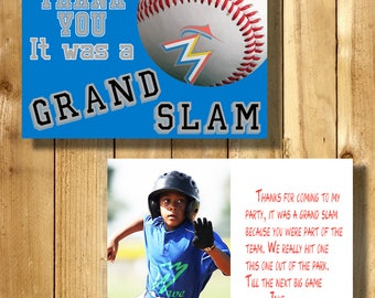 Miami Marlins 4x6 Thank You Note Cards