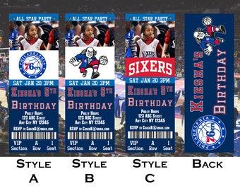 Philadelphia 76ers Ticket Invitation