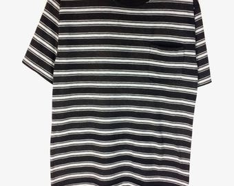 Rare !!! Vintage GUESS CLUB SPORT Stripe Shirt Vintage Fashion Tshirt