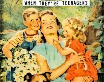 """Vintage, Meme, Magnet, - """"A good mom"""""""