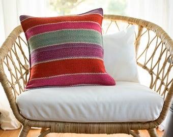 19 x 19 Multicolor Frazada Pillow Cover, Peru Pillow Cover