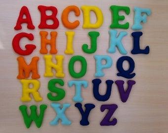 Felt Alphabet, ABC, Felt letters, Gift for Preschoolers,Learning Toys, magnet alphabet, stuffed alphabet,learning alphabet, educational game