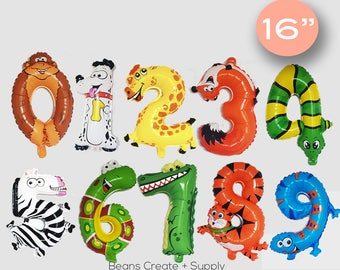 """SALE! Animal Letters Balloons 