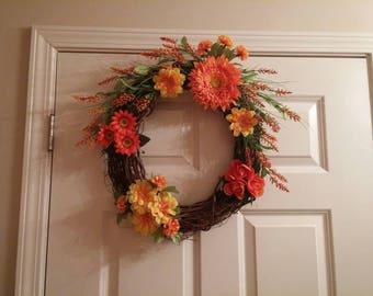 Fall Decorative Door Wreath