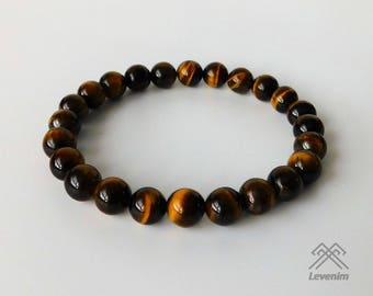 Tigers eye bracelet - Tigers eye beads - Mens bracelet - Unisex bracelet - Beaded bracelet - Tigers eye