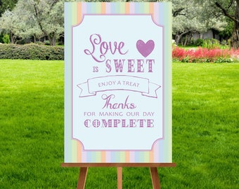 A4 Pastel Candy Sweet Cart Sign