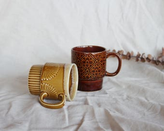 Vintage 60s Mod stackable mugs