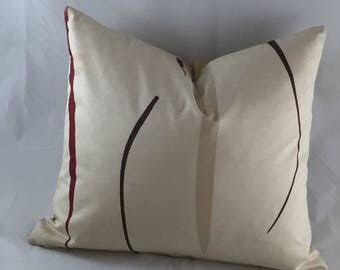 Sunroom cushions in beige cotton sateen