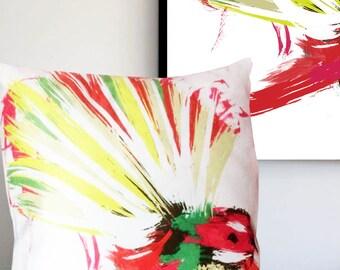 Fantail New Zealand NZ Bird Colourful Faux Suede Cushion 45 x45cm