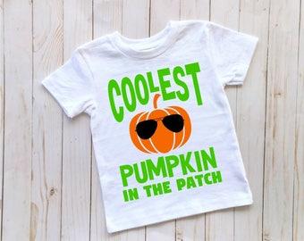 Toddler Boy Halloween Shirt, Coolest Pumpkin In The Patch, Toddler Pumpkin Patch Shirt, Toddler Fall Shirt, Boys Pumpkin Patch Shirt,
