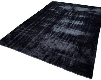 turkish handmade vintage black area rug anatolian black rug
