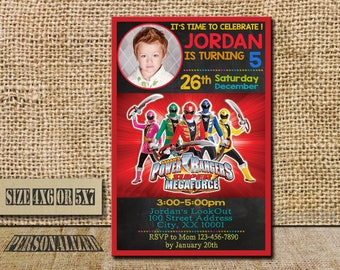 Power Ranger Invitation / Power Ranger Birthday / Power Ranger Birthday Invitation / Power Ranger Party Invitation / Power Ranger / SL019