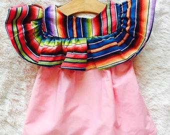Mexican dress, little girls dress, zarape dress, toddler dress, baby dress