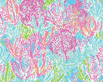 Lilly pulitzer inspired/seaweed/printed vinyl/HTV/vinyl/651/oracal/adhesive/blanks/small business/heat transfer/