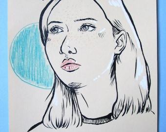 Queen-Signed Original Fashion Sketch