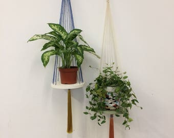 Set of two hanging plant holders