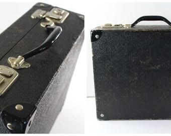 Vintage Black Briefcase, Vintage Camera Case, Black Briefcase, Vintage office decor, Fathers Day Gift, Gifts for him, Black Attache Case