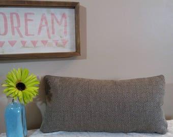 "Gray Housewares Decor Pillow Cover, 12"" x 22"" lumbar Gray Solid Throw Pillow, by Pillow Worx"