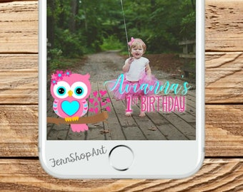 Owl Snapchat GeoFilter, Custom Snapchat Filter, Owl Party Geofilter, Owl Snapchat Filter, Owl party