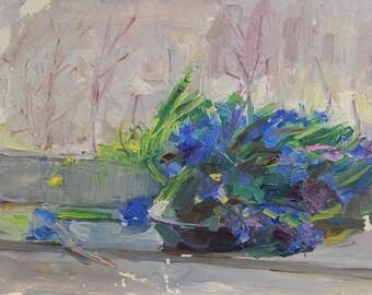 STILL-LIFE - Ukraine Impressionism, vintage, original, oil painting, work of art.