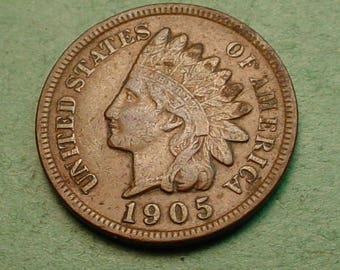 Indian Head Cent 1905  Full Liberty<> FREE SH to United States<> # ET3431