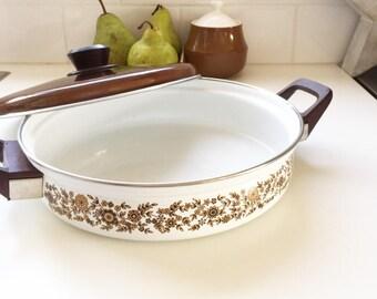 Enamel cooking pan