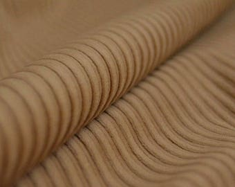 Sand fabric, beige Corduroy, light brown cotton by the yard, Width: 55""