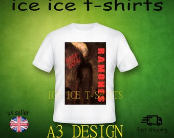 Ramones - brain drain - 1989 - punk - new wave - adult white  - t-shirt