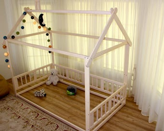 montessori bed house bed children bed toddler bed kid bed wood