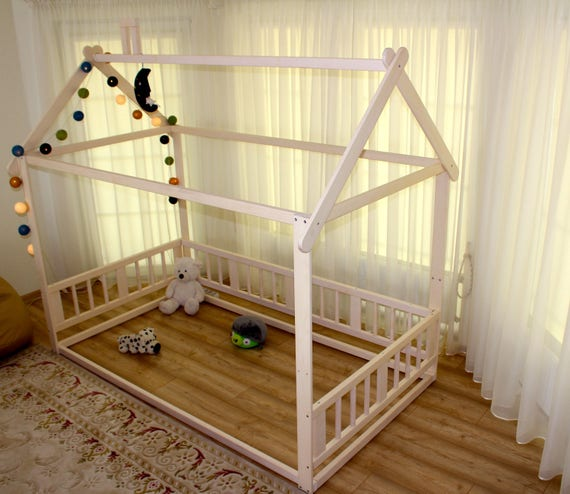 montessori bed house bed children bed toddler bed kid bed. Black Bedroom Furniture Sets. Home Design Ideas