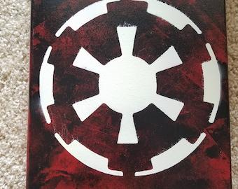 Galactic Republic Star Wars Spray Paint Canvas