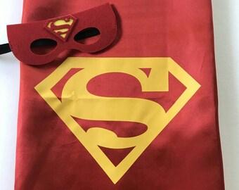 Superman Cape and Mask Set, Superhero Party, Superhero Party Favors, Superhero Birthday, Superman Cape, Superman Party, Superhero Costume