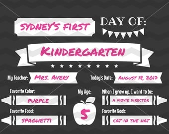 First Day of School SVG File - Chalkboard Sign Printable, Back to School DXF Silhouette Cameo Cricut Explore Cut Files, Education