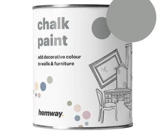 Hemway Premium Chalk Paint  - For Renovating Furniture - Dove Greys - 1 Litre