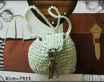 Little green handbag for bjd