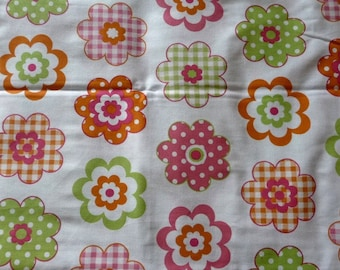 Spring flowers cotton fabric