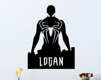 Amazing Spiderman Personalized Vinyl Wall Decal