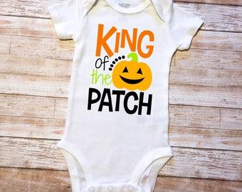king of the patch, pumpkin onesie, pumpkin boy onesie, pumpkin shirt, pumpkin boys, fall onesie, fall shirt, king onesie, halloween onesie