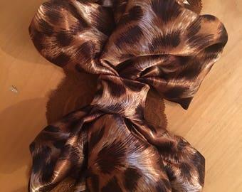 Big bow leopard headband
